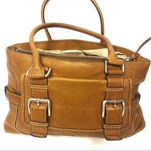 Michael Kors Vintage Leather Satchel Shoulder Bag